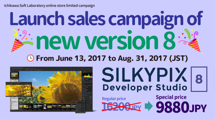 Launch sales campaign of new version 8